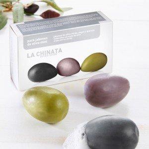 La Chinata Mini-Olivenölseifen 3er-Set
