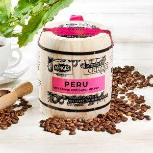 Minges Kaffee Peru Hochland Arabica im Holzfass, ganze Bohne