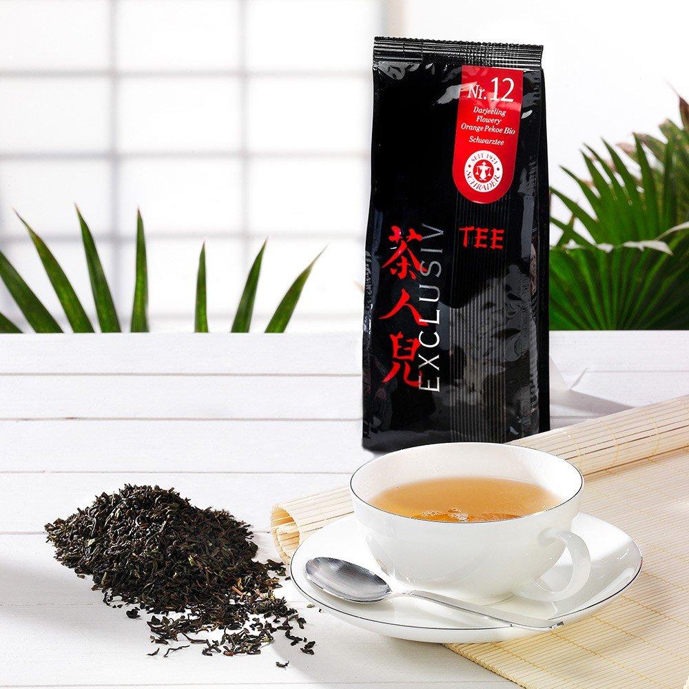 Tee Nr. 12 Schwarzer Tee Darjeeling Flowery Ora...