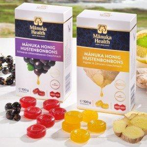 Manuka MGO 400+ Hustenbonbons Ingwer Zitrone