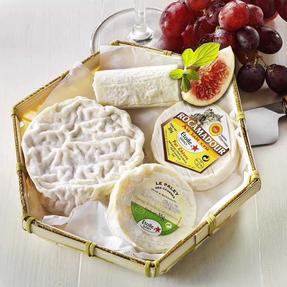 Französische Käse Kompositionen