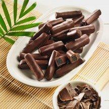 Ingwerstäbchen in Zartbitterschokolade