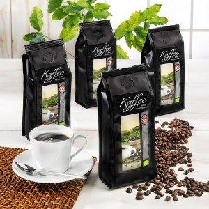 Kaffee Spezialitäten Sortiment Bio, ganze Bohne