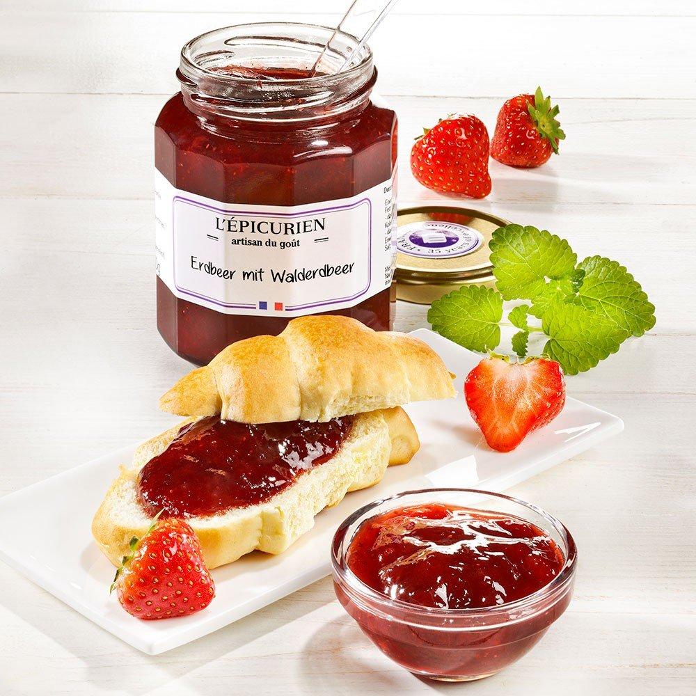 L'Epicurien Konfitüre Erdbeere und Walderdbeere
