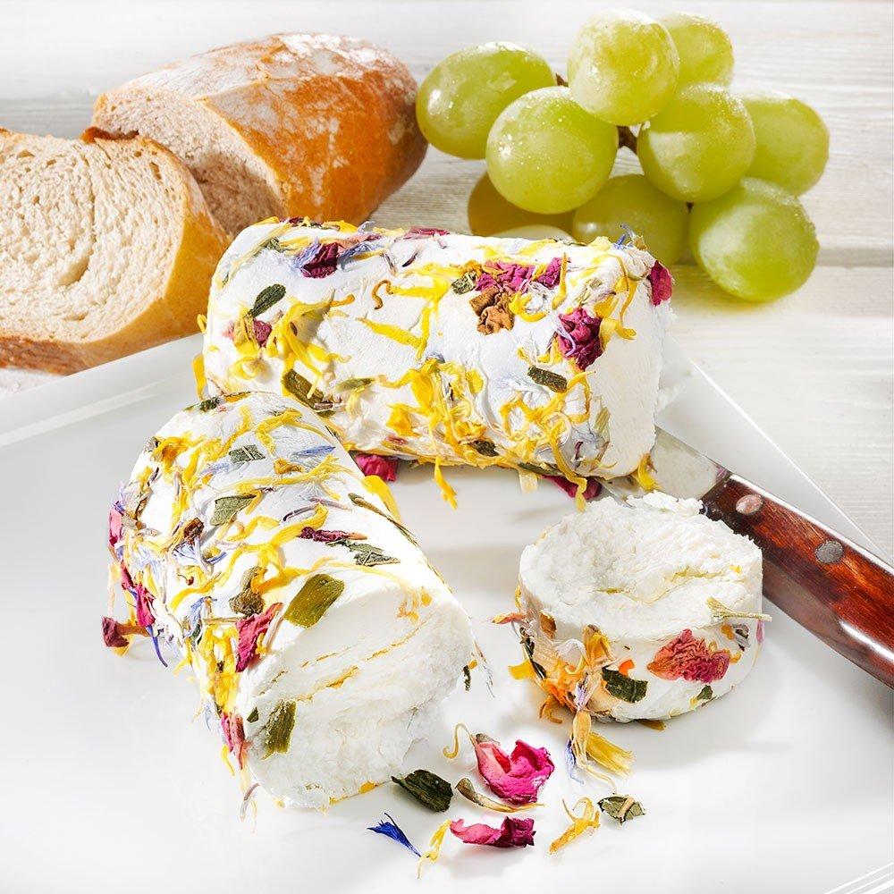 Ziegenfrischkäse mit Blüten 2er-Set