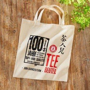 """Baumwolltasche """"Teebeutel"""" 100 Jahre Schrader"""