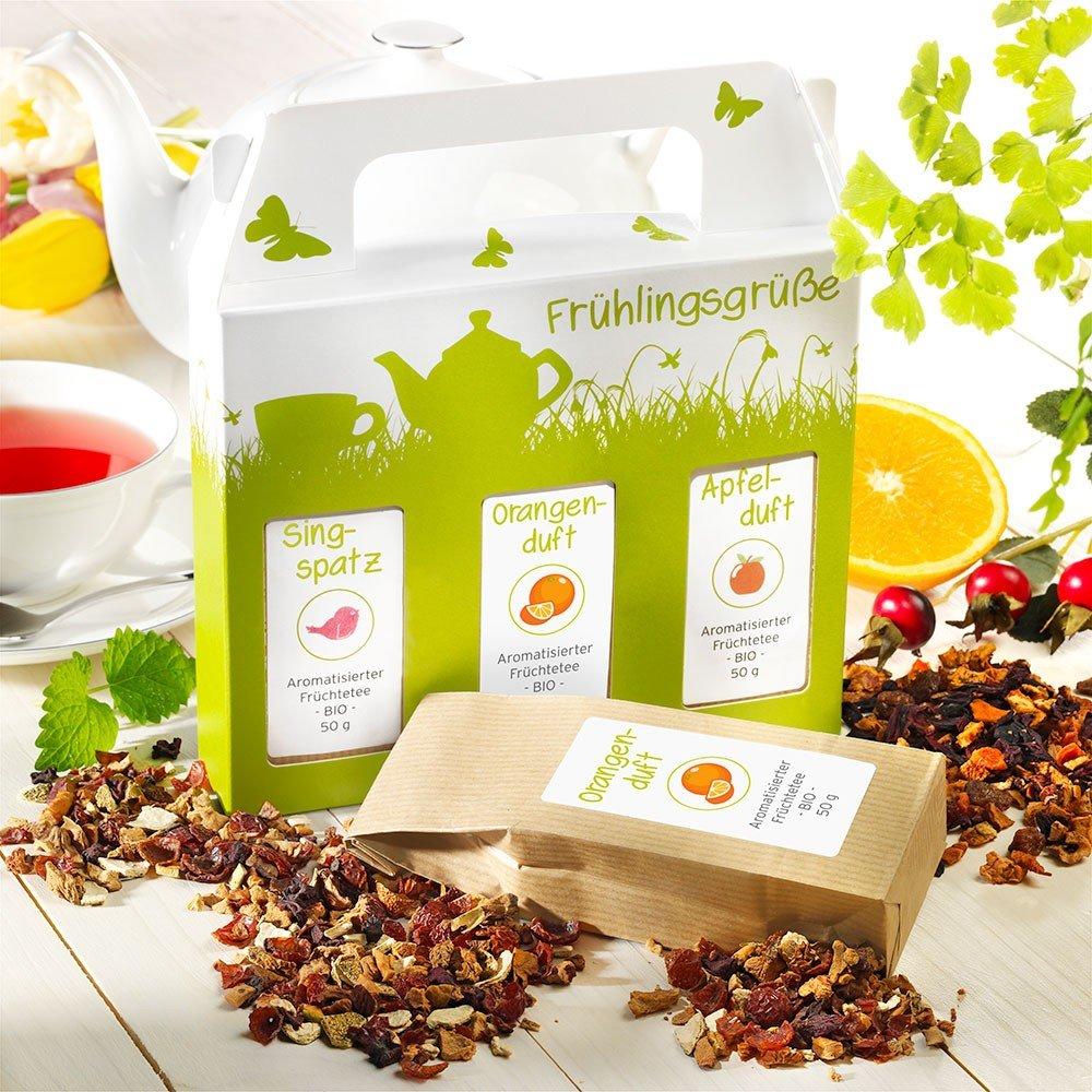 Rauf Tee Früchtetee-Sortiment Frühlingsgrüße Bio