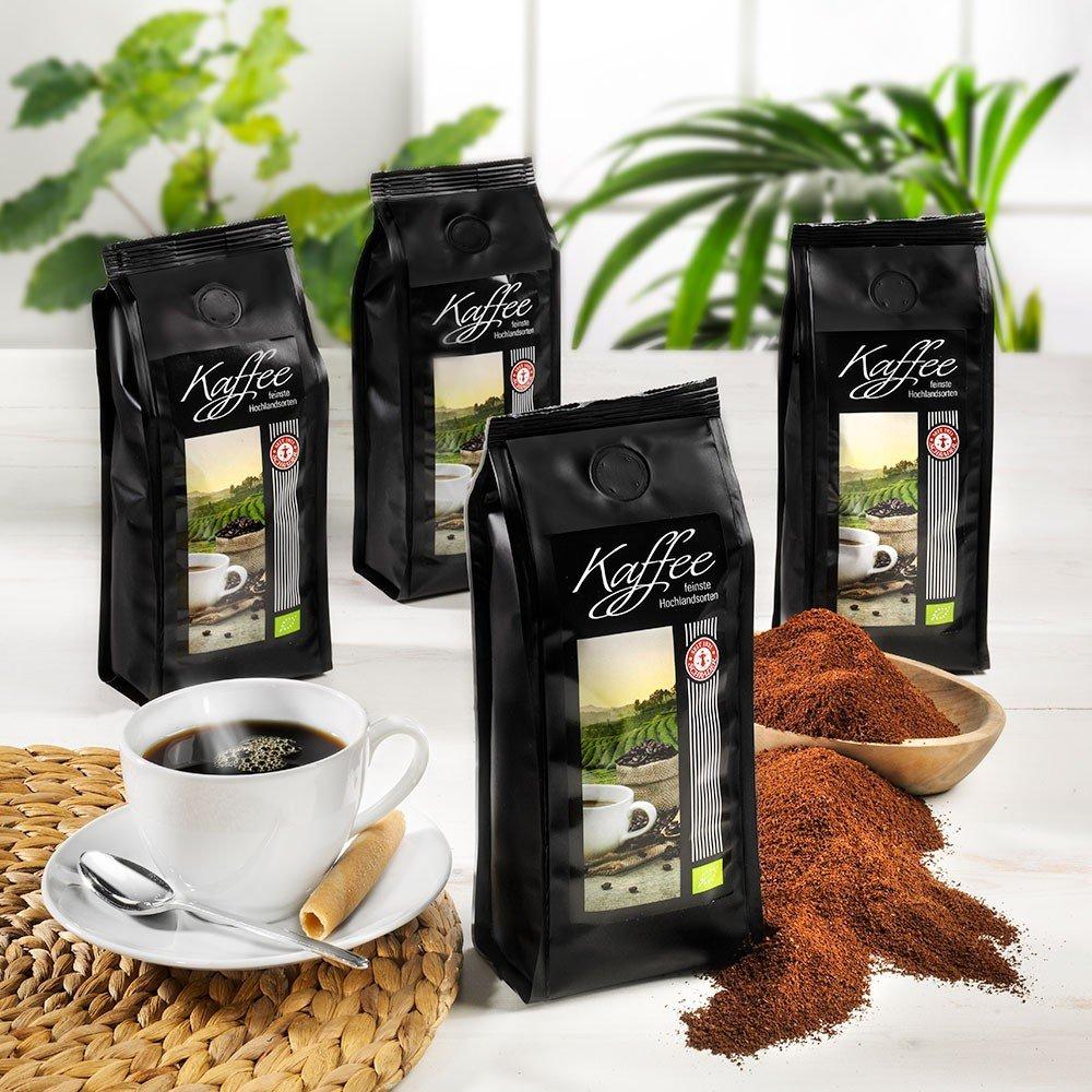 Kaffee Auswahl Exquisit Bio, gemahlen