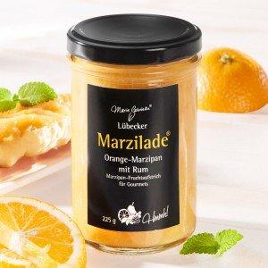 Lübecker Marzilade® Fruchtaufstrich Orange-Marzipan mit Rum