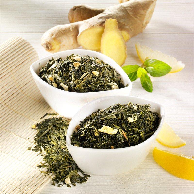 Rauf Tee aromatisierter grüner Tee Ingwer Lemon