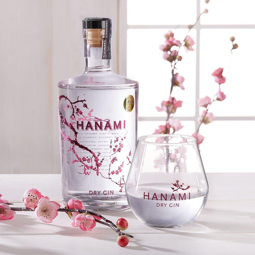 Hanami Dry Gin mit Glas