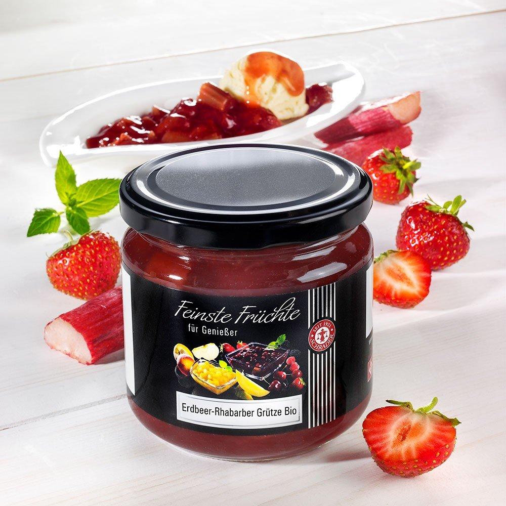 Erdbeer Rhabarber Grütze Bio