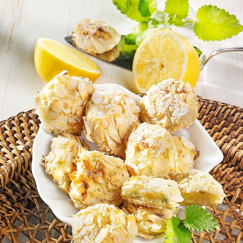 Zitrönchen Zitronengebäck mit Marzipan