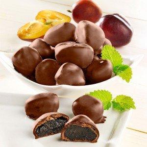 Madeira Pflaumen in Zartbitterschokolade