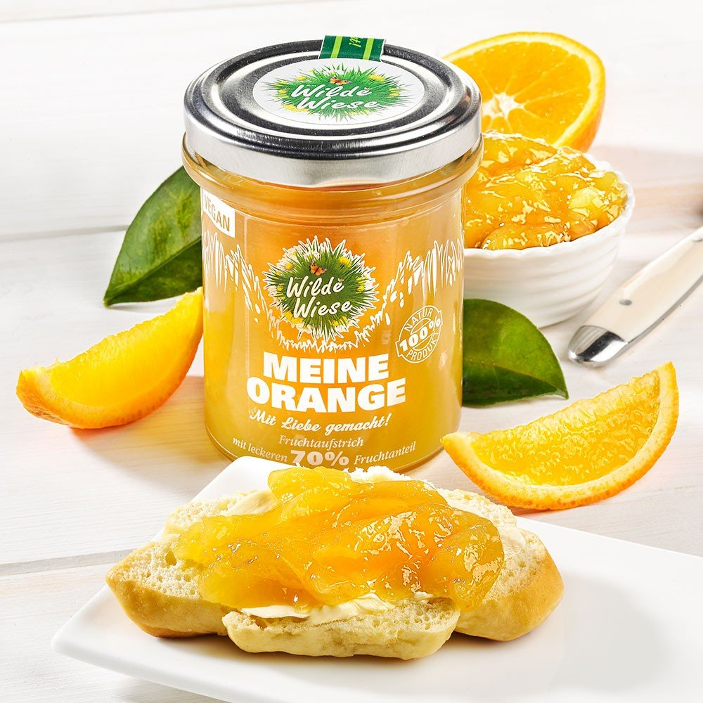 Meine Wilde Wiese Fruchtaufstrich Orange, vegan
