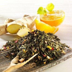 Rauf Tee aromatisierter grüner Tee Ingwer-Orange