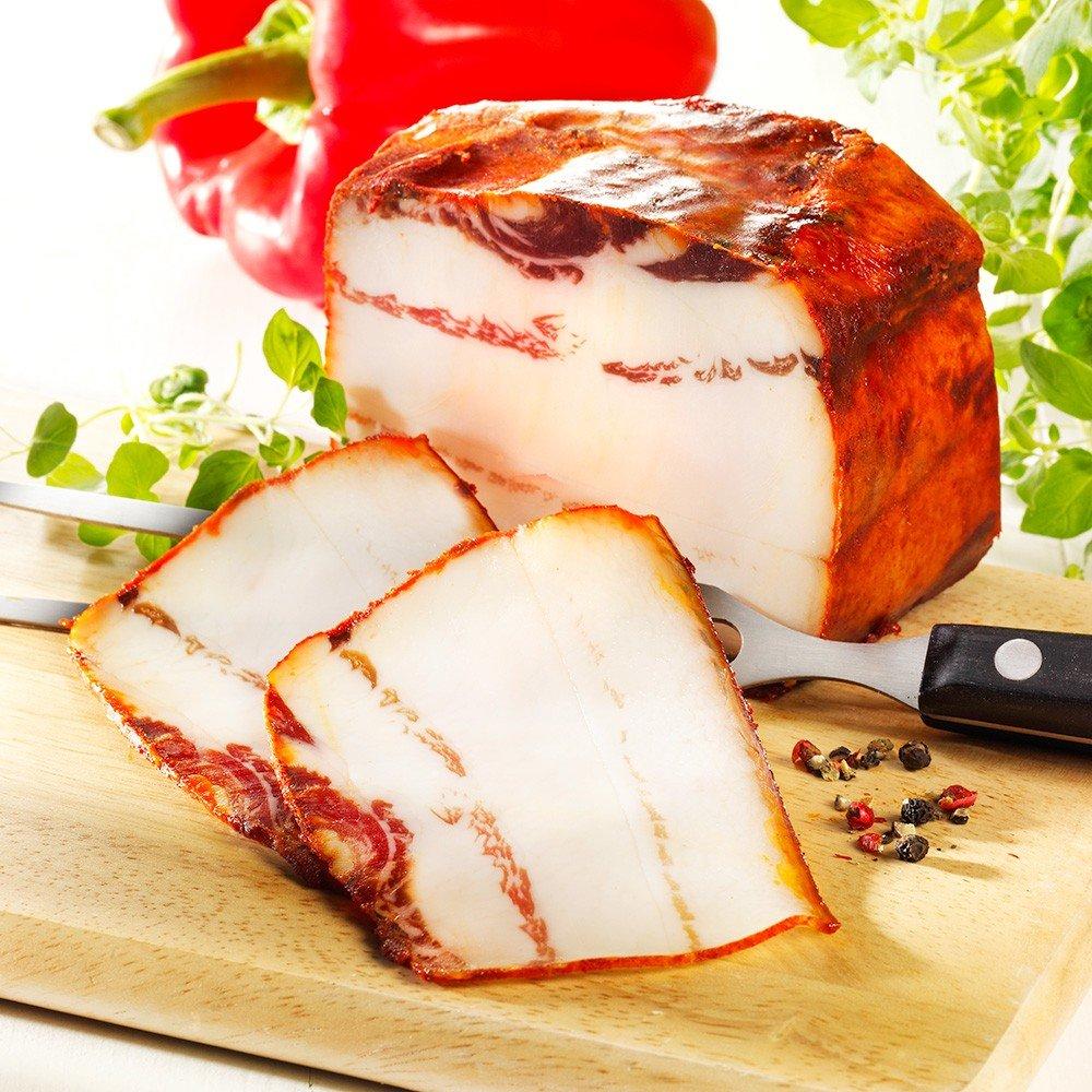 Wollschwein Paprikaspeck, im Stück