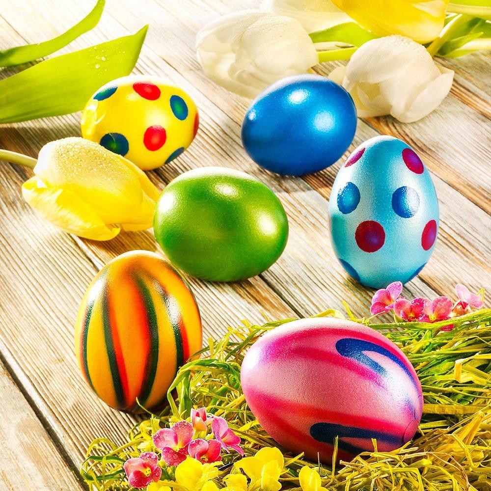 Nougat Eier in echter Eierschale, 6 Stück