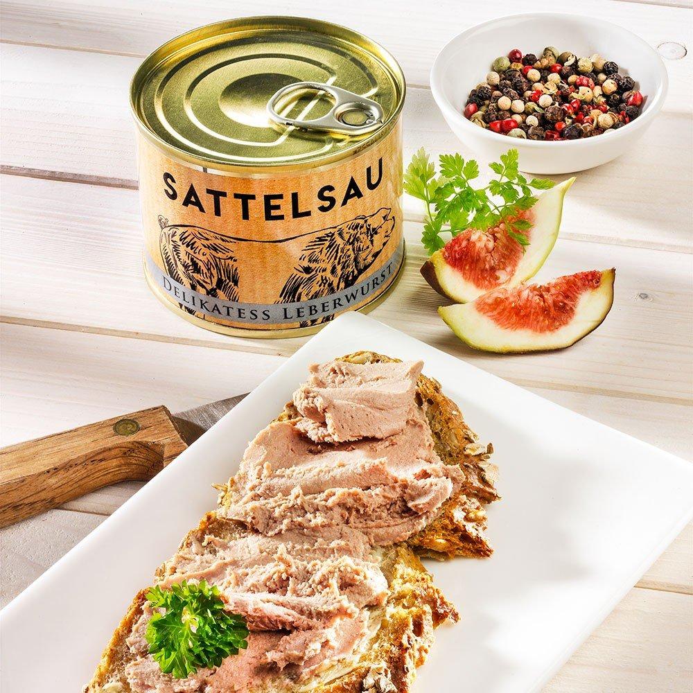 Delikatess Leberwurst vom Sattelschwein
