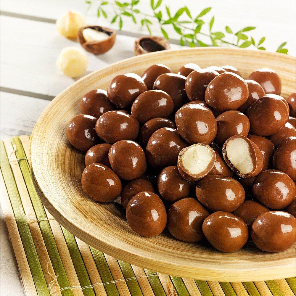 Schokoladen Macadamianüsse