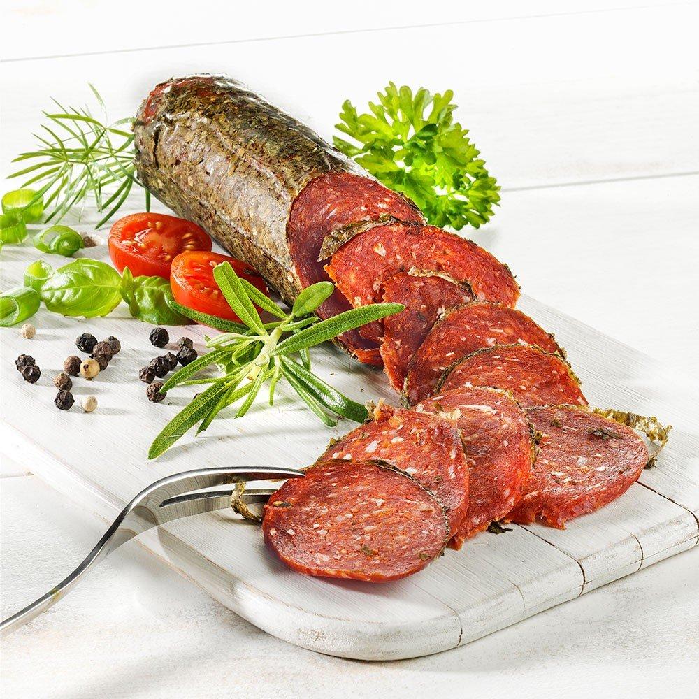 Whisky-Salami aus Bio Rind- und Schweinefleisch, im Stück