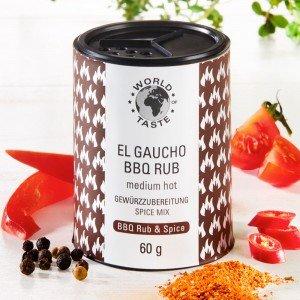 Argentinischer Gewürzmix El Gaucho BBQ Rub Medium Hot
