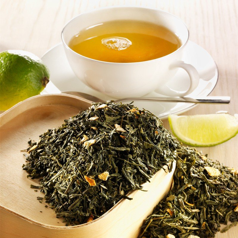 Rauf Tee aromatisierter grüner Tee Sencha Lemon