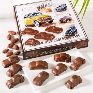 Belgische Milchschokoladen-Autos