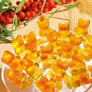 Fruchtgummi Sanddorn Fruchtsaftbärchen
