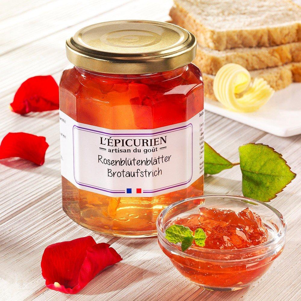 L'Epicurien Brotaufstrich Rosenblütenblätter
