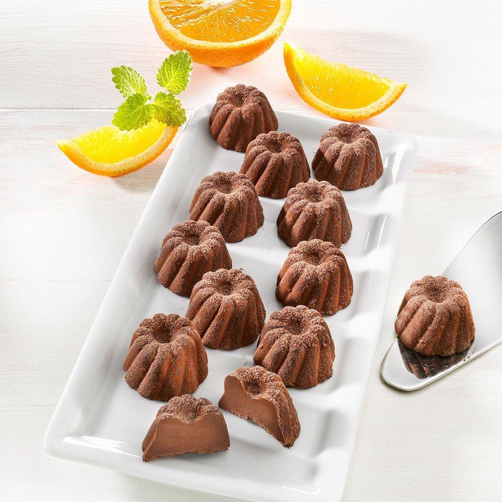 Elsässer Gugelhupf-Kakaokonfekt mit Orange