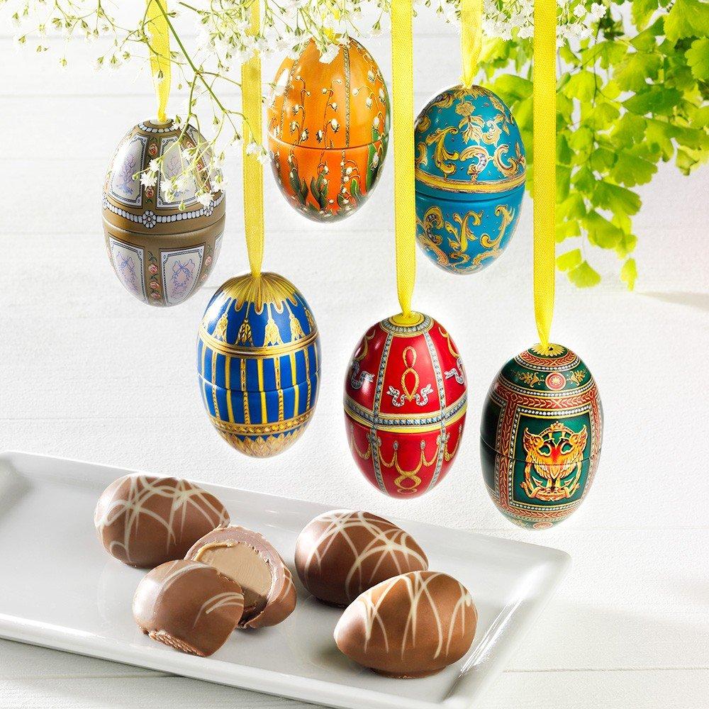 Mini Fabergé Dekor Eier, 6 Stück