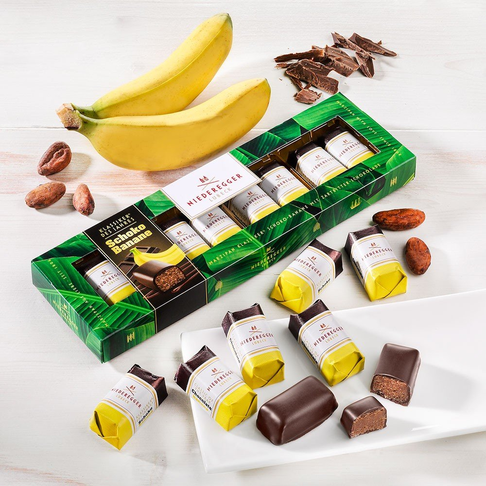 Niederegger Klassiker des Jahres Schoko-Banane