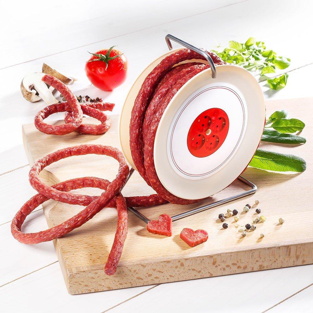 Salami auf Mini-Kabeltrommel