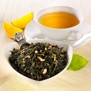 Rauf Tee aromatisierter grüner Tee Sencha Sweet Orange