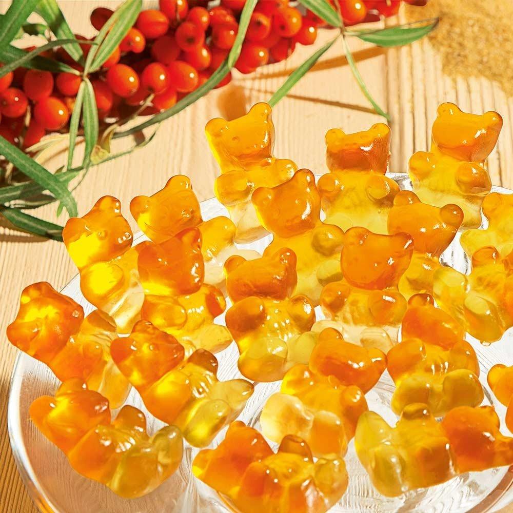 Fruchtgummi Sanddorn-Fruchtsaftbärchen