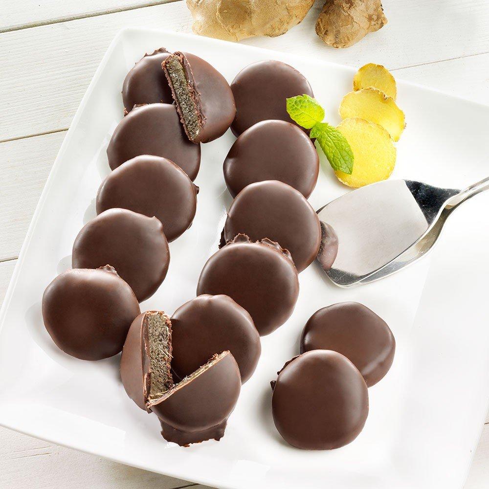 Ingwer-Taler in Zartbitterschokolade