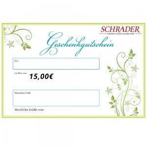Gutschein über € 15,-