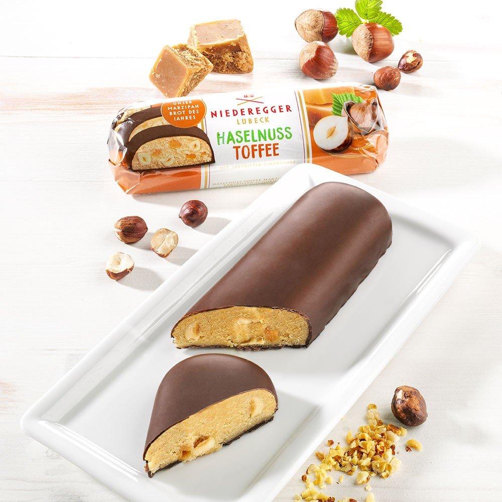 Niederegger Marzipanbrot des Jahres Haselnuss Toffee
