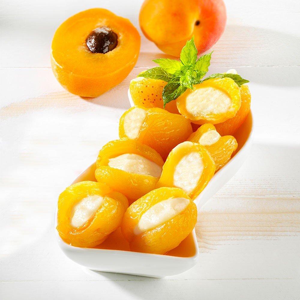 Aprikosen gefüllt mit Frischkäse