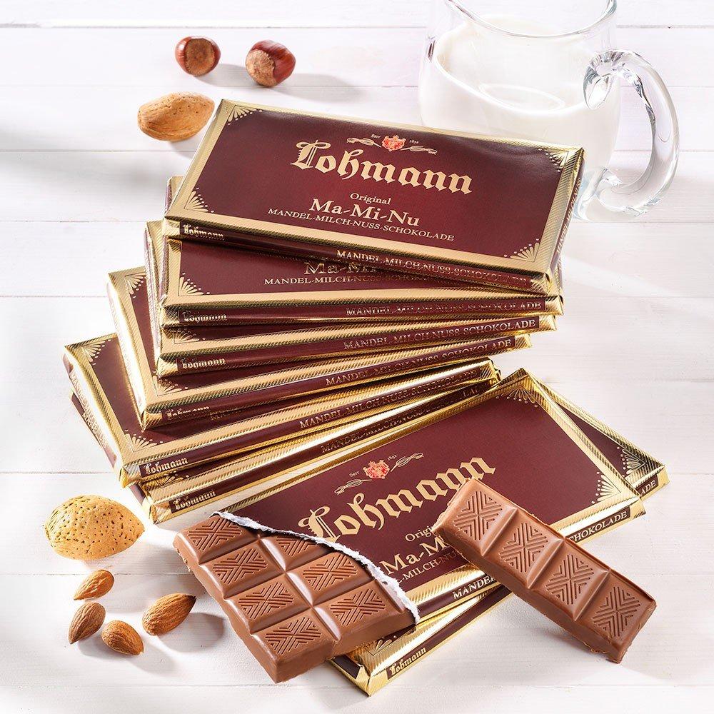 Lohmann Schokolade Mandel-Milch-Nuss 10er-Set