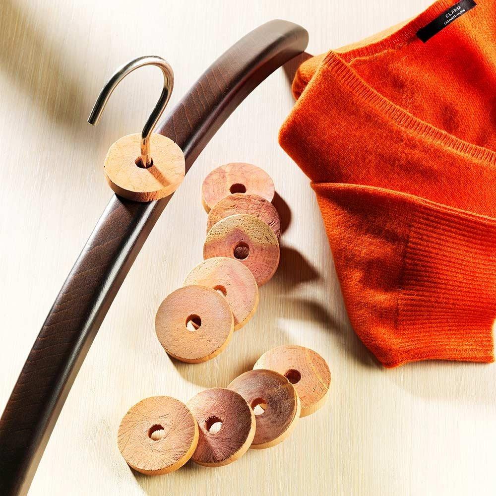 Redecker Rot-Zeder-Kleiderbügelscheiben