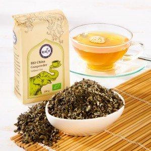 Rauf Tee Grüner Tee Bio China Gunpowder