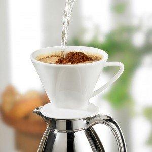 Cilio Kaffee Dauerfilter aus Porzellan, Größe 4